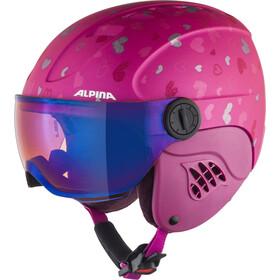 Alpina Carat LE Visor HM Hjelm Børn, pink